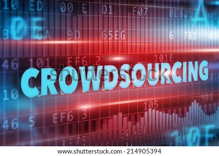 Crowdsourcing concept - stock photo