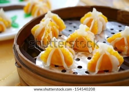 Crown dumplings - stock photo