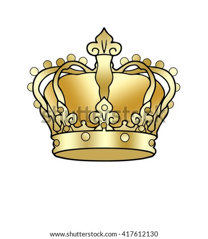 Crown golden king crown isolated on stock illustration 417612130 crown golden king crown isolated on a white background digital illustration image thecheapjerseys Choice Image