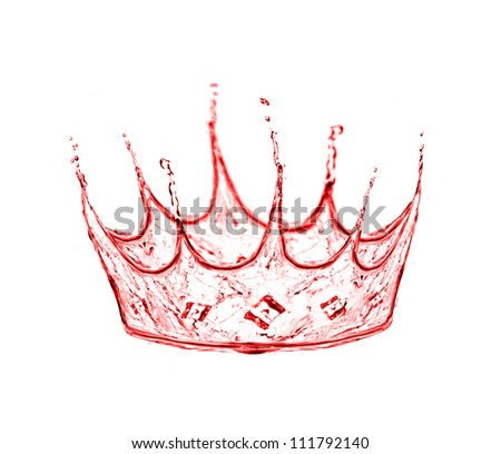crown made from wine splash - stock photo