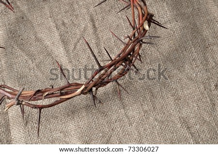 crown made of thorns - stock photo