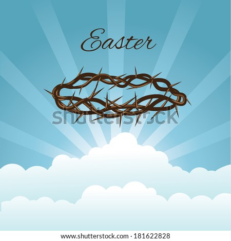 Crown of thorns in sky - stock photo