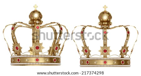 crown on a white background - stock photo