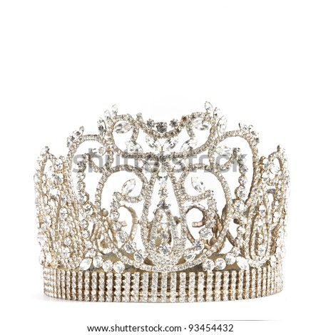 crown or tiara isolated on a white background - stock photo