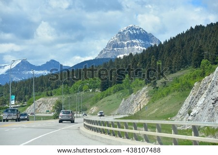 CROWSNEST PASS, AB- MAY 16: Crowsnest Pass Mine area on May 16, 2016 in Crowsnest Pass, AB . Mines and parks are one of the most visited at Crowsnerst Pass in Alberta, Canada