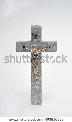 Crucifix of Jesus on the cross. Symbol of christian religion and belief.