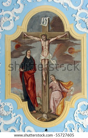 Crucifixion, Jesus on the cross - stock photo