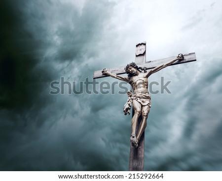 crucifixion of Jesus Christ - stock photo