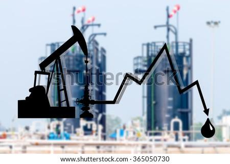 Crude Oil are low price - stock photo