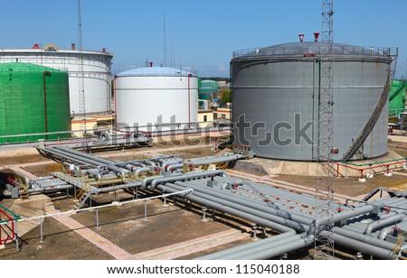 Crude Oil Tank - stock photo