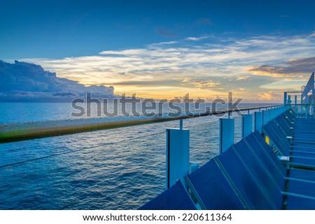 Cruise Deck - stock photo