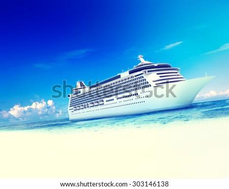 Cruise Destination Ocean Summer Island Concept - stock photo