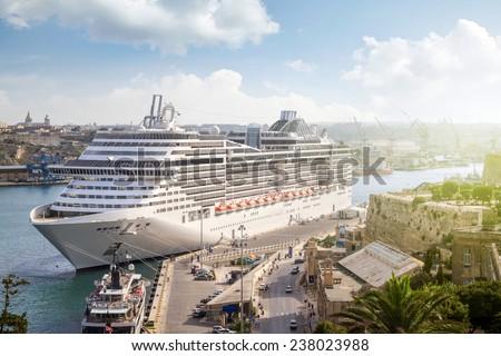 Cruise port of Valletta, Malta - stock photo