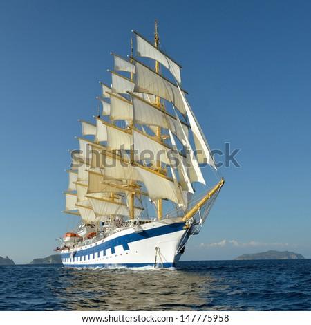 Cruise ship. - stock photo