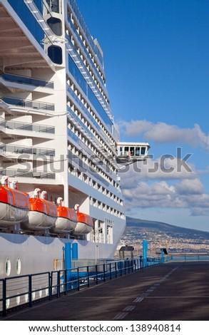 Cruise Ship at Port - stock photo