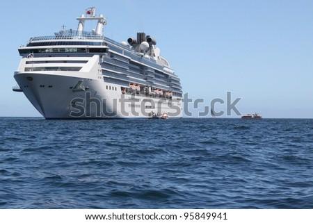 Cruise ship Cabo San Lucas, Mexico - stock photo