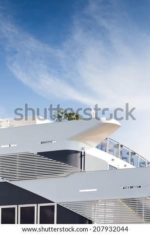 Cruise ship deck - stock photo