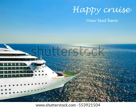 Cruise Ship Open Water Side View Stock Photo Shutterstock - Can you text from a cruise ship