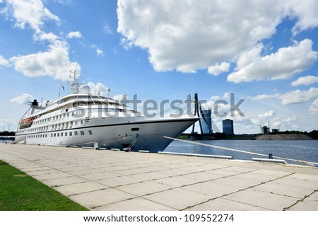 cruise ship in Riga, Latvia