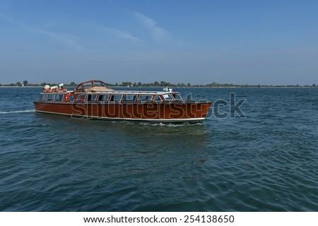 Cruise ship in the Adriatic sea near Venice, Italy, Europe   - stock photo