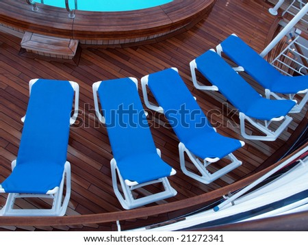 Cruise Ship Lounge Chairs on Jacuzzi Deck