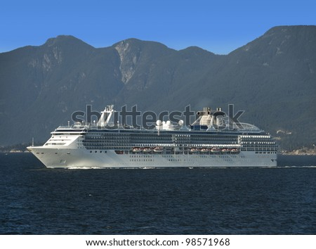 Cruise ship on the sea