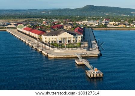Cruise ship port, Falmouth, Jamaica - stock photo