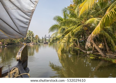 Cruising on the Backwaters of Kerala, India