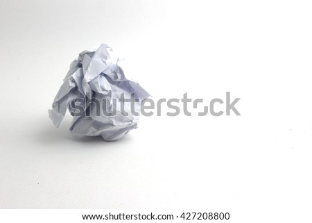 Crumble paper isolated on white background - stock photo