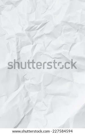 Crumbled wrinkle paper  - stock photo