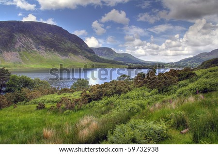 Crummock Water in the English Lake District.