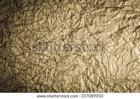 Crumpled abstract background - stock photo