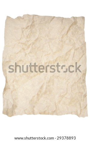 crumpled and wrinkled grunge paper background or backdrop