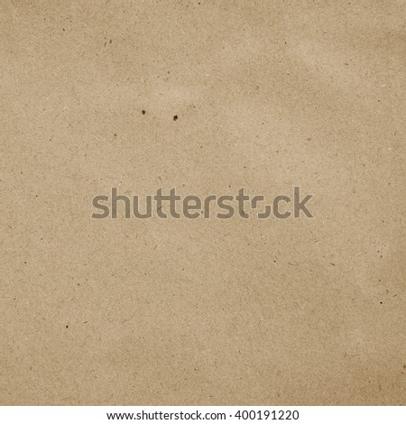 crumpled art plain paper texture for background in vintage color cream tone style:detail of crease/crinkle of paper texture.brown color tone wallpaper pattern:rugged craft carton backdrop:square plain - stock photo