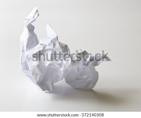 Crumpled ball of paper - stock photo