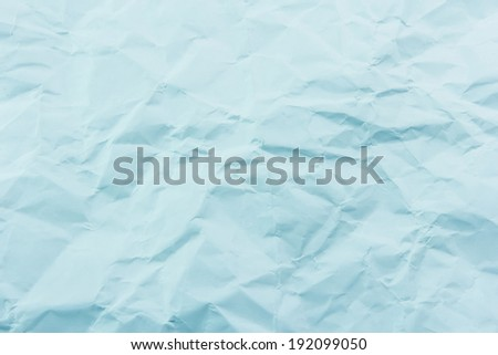 Crumpled blue paper for background - stock photo