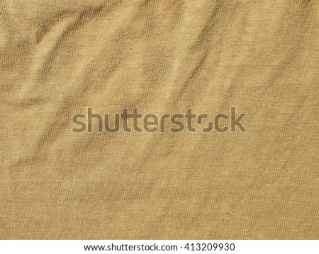 crumpled brown fabric texture background, material of textile industrial