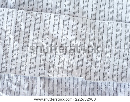 Crumpled DNA sequence - stock photo