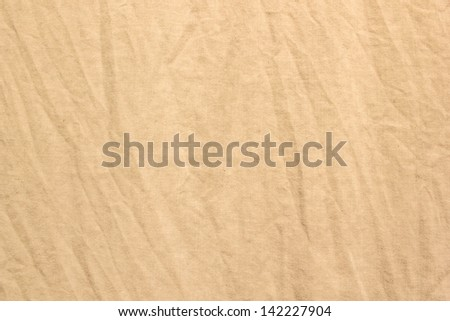 Crumpled Fabric texture Brown for background - stock photo