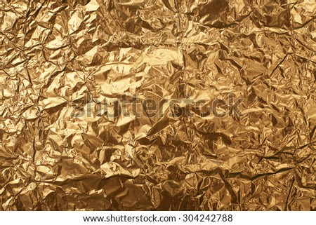 Crumpled foil texture background