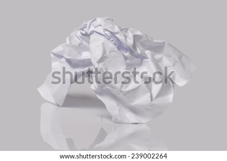 Crumpled paper. - stock photo
