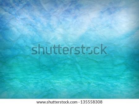 Crumpled paper beach background - stock photo