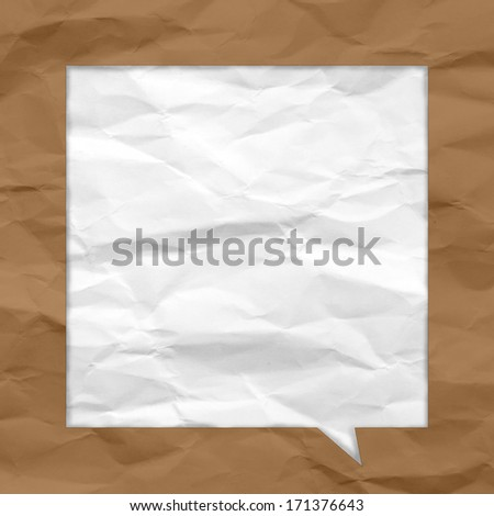 Crumpled paper bubble for speech