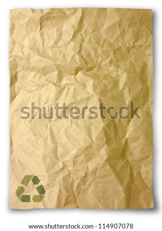 Crumpled paper for recycle - stock photo