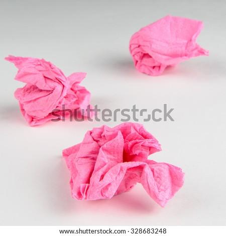 Crumpled Paper Napkins  - stock photo