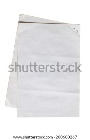 Crumpled paper on a white background.