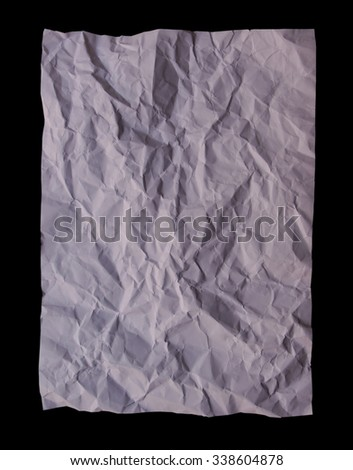 crumpled paper on black backgrounds