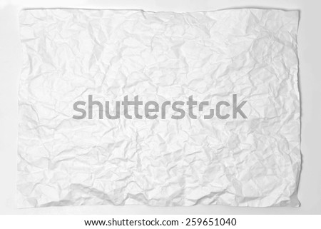 crumpled paper texture for background - stock photo