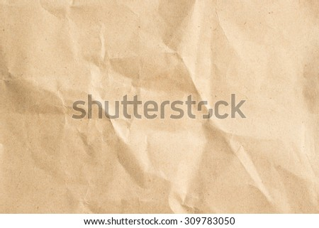 crumpled paper texture for backgrounds in vintage color tone styles : detail of paper texture. - stock photo