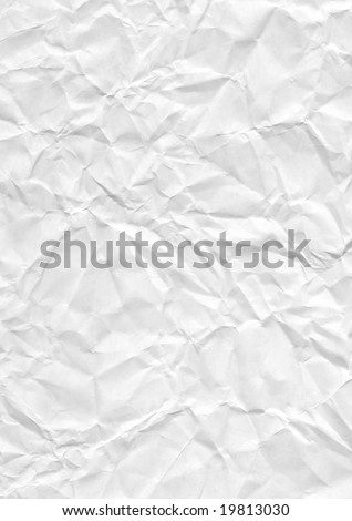 Crumpled paper. Very good file for backgrounds - stock photo